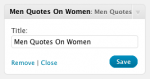 Men Quotes On Women – Widget control panel