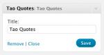 Tao Quotes – Widget control panel