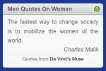 Men Quotes On Women - Widget