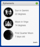 Ephemeris - Widget